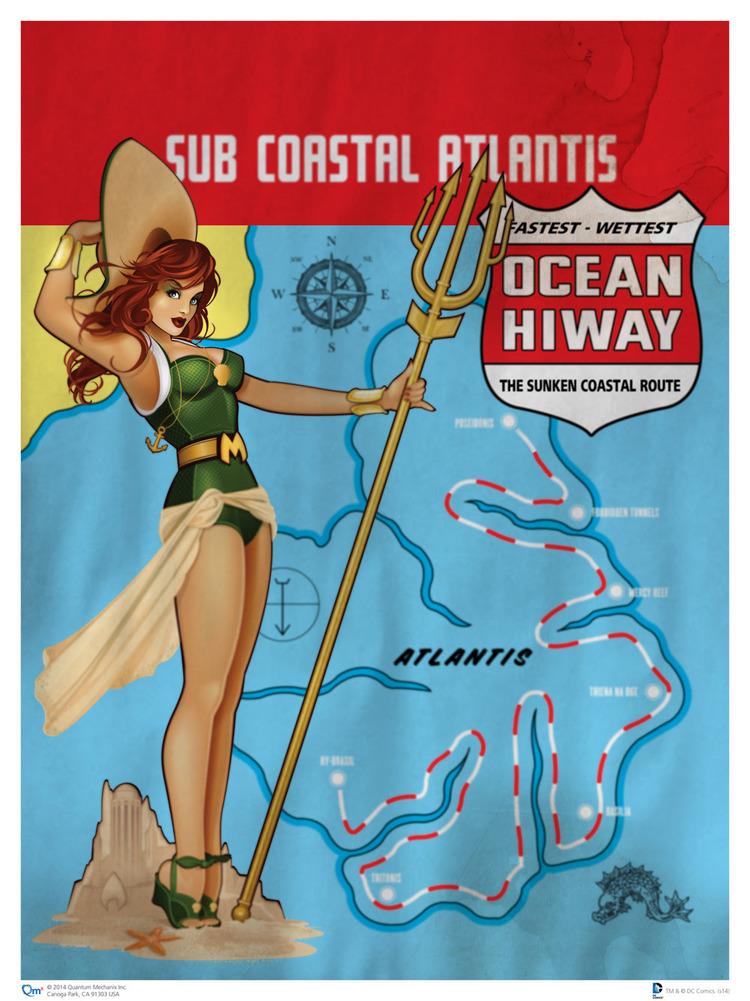 1940s-Style DC Comics Heroines Pin-Up Art