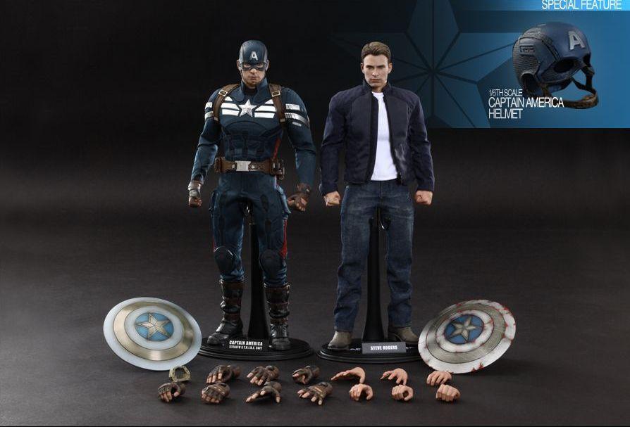 Captain America & Steve Rogers Collectible Figures Set