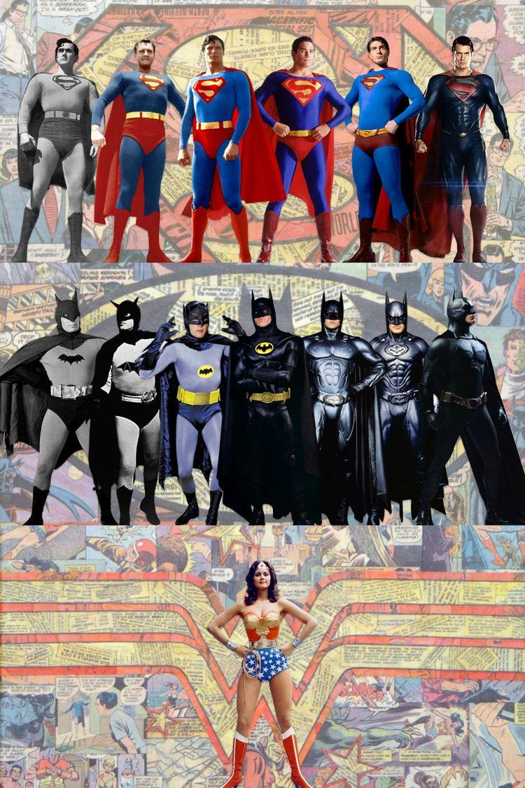 Live-Action Batman, Superman, and Wonder Woman History