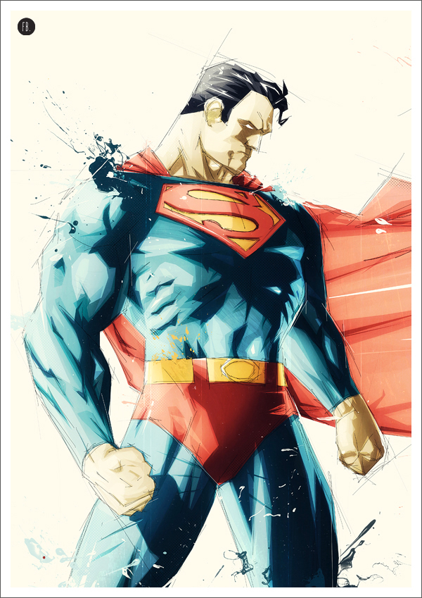 Superman Superhero Art