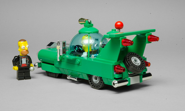 The Homer Mobile Made Of LEGO