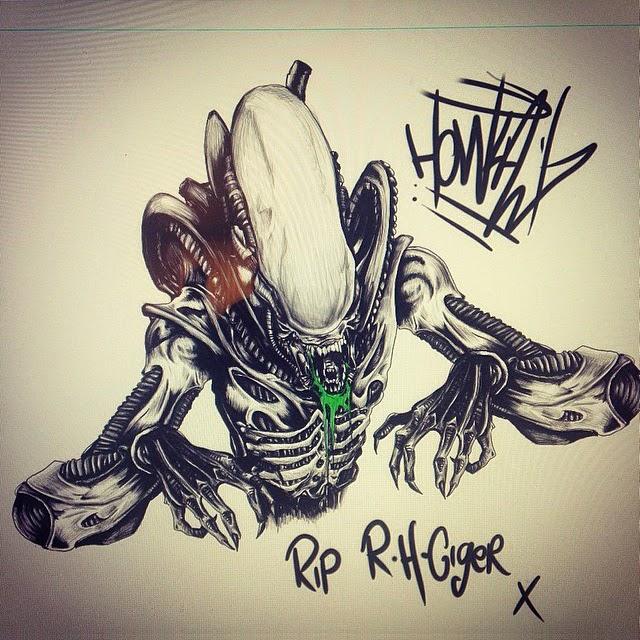 ALIEN Artist H.R. Giger Tribute Art