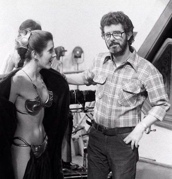 George Lucas and Carrie Fisher