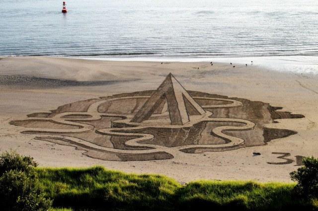 3-D Illusion Sand Art Drawings