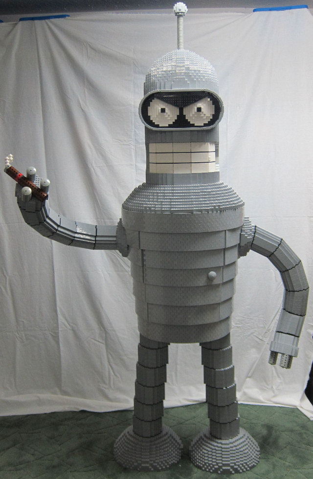 6-Foot LEGO Bender Liquor Cabinet