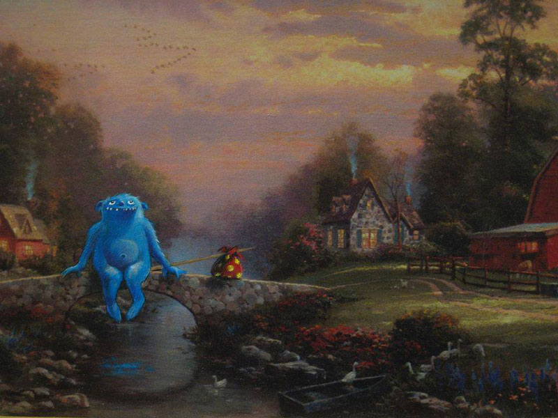 adding-characters-to-thrift-store-paintings-by-david-irvine-gnarled-branch-24
