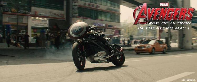 Black Widow Rides Harley-Davidson's New Electric Bike in Avengers 2