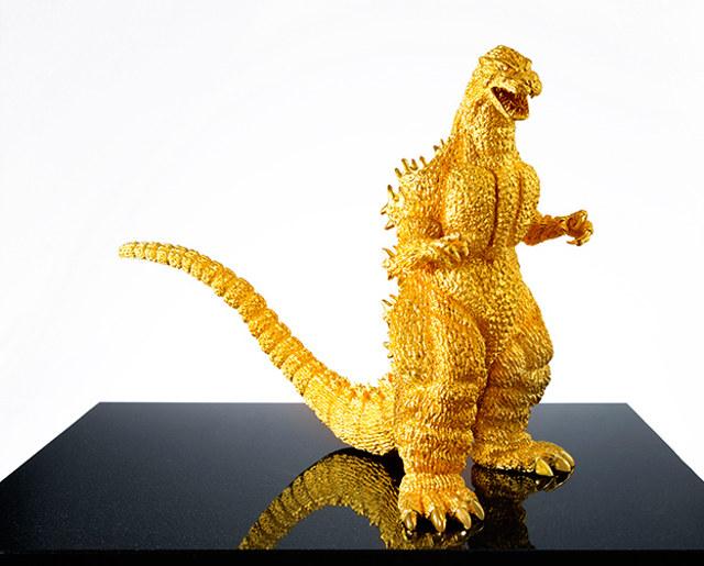 $1.5-Million Solid Gold Godzilla Statue