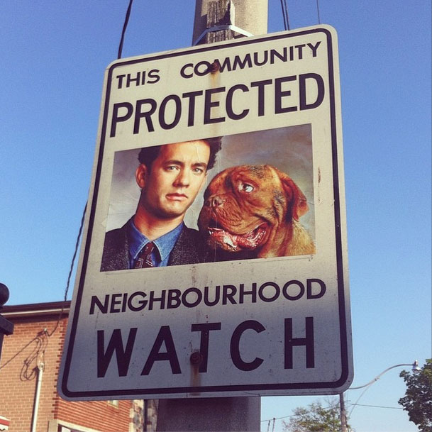 Superheroes and Crime Fighters to Neighborhood Watch Signs