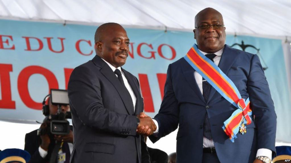 Joseph Kabila quitte le bureau présidentiel au lendemain de l'investiture de Félix Tshisekedi