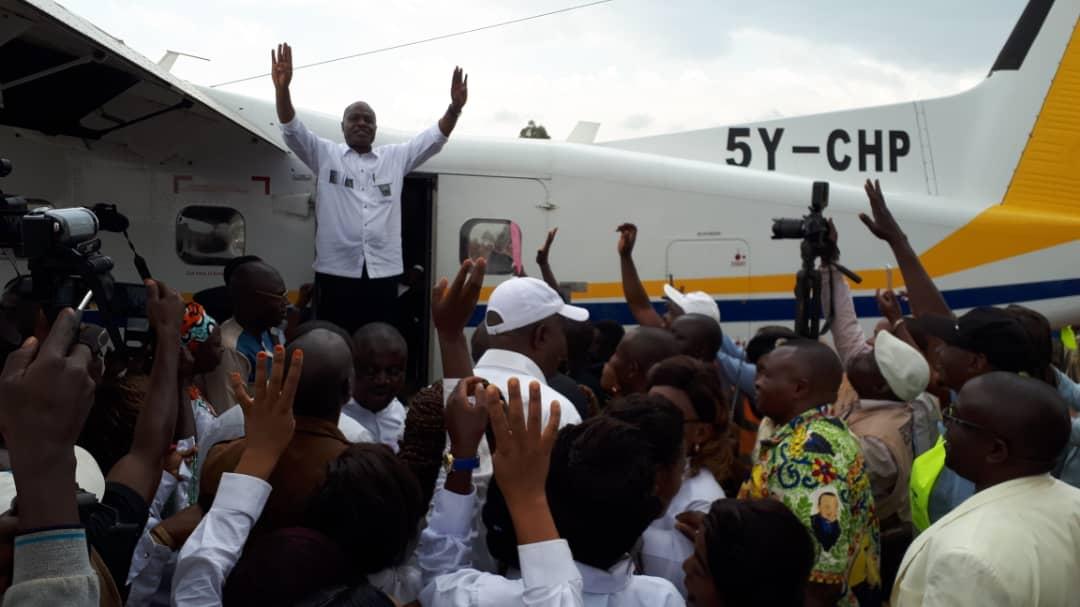 Butembo-RDC : Martin Fayulu Madidi se dirige actuellement vers le lieu de son meeting