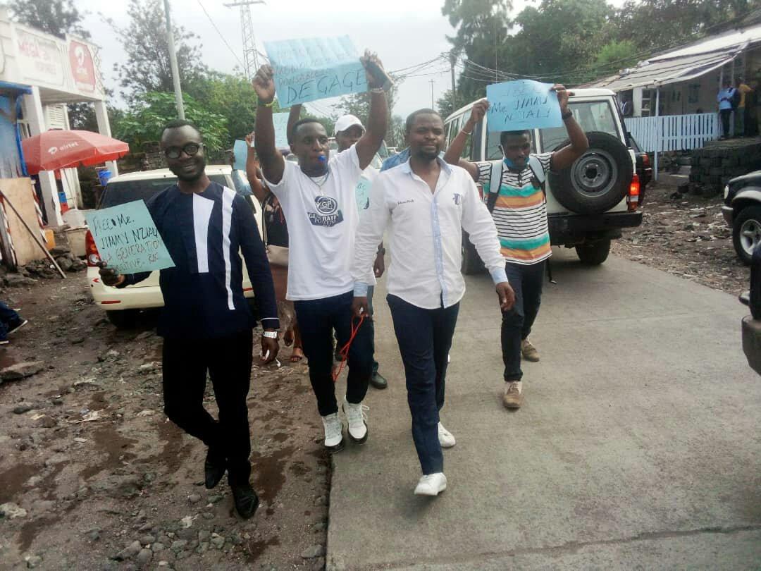 Goma : Après 24 heures de détention provisoire, Jimmy Nzialy a été relâché