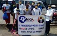 Nord-Kivu : la fondation Carly Nzanzu Kasivita a doté des masques de protection à 15 écoles de Goma