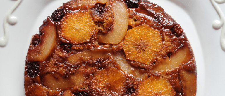 Orange Peach Blackberry Upside Down Cake