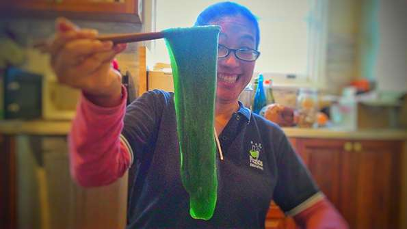 Jacqui with slime