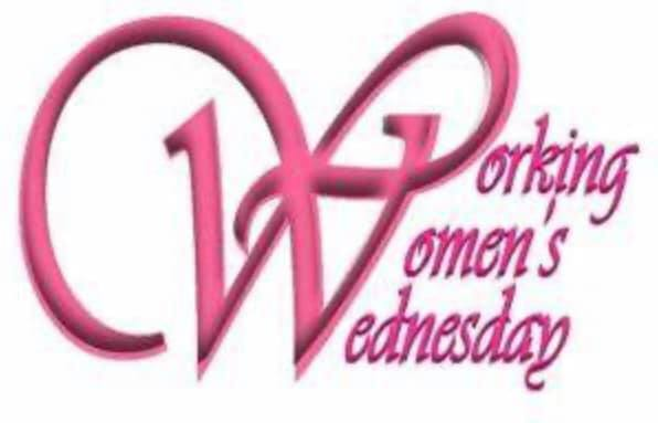 Pink logo for Working Women's Wednesay