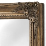 Large Antique Gold Full Length Wall Mirror Fizzy Fox Ripley