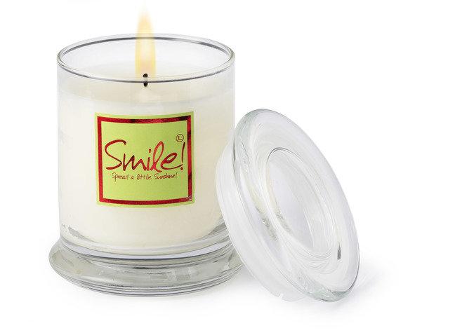 Smile Candle Jar- Glass Jar