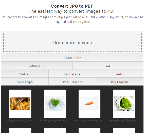 small PDF images to pdf