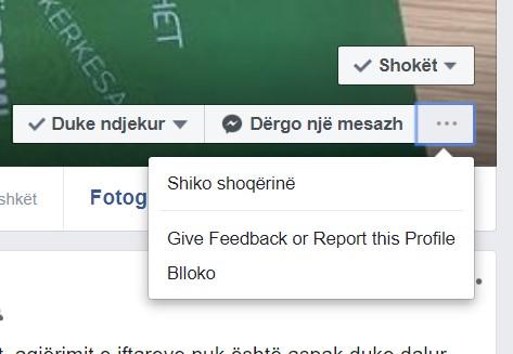 Bllokoj një profil: Vlerësimi i një profili në Facebook