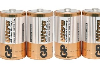Alkalisk batteri LR-20, D celle - 4 pack