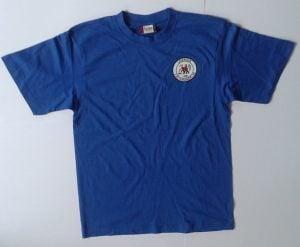 Blå t-skjorte