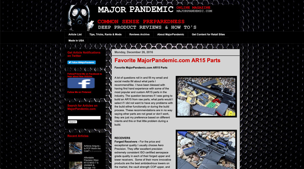 Feddersen AR15 Rifle Barrel Review - Major Pandemic