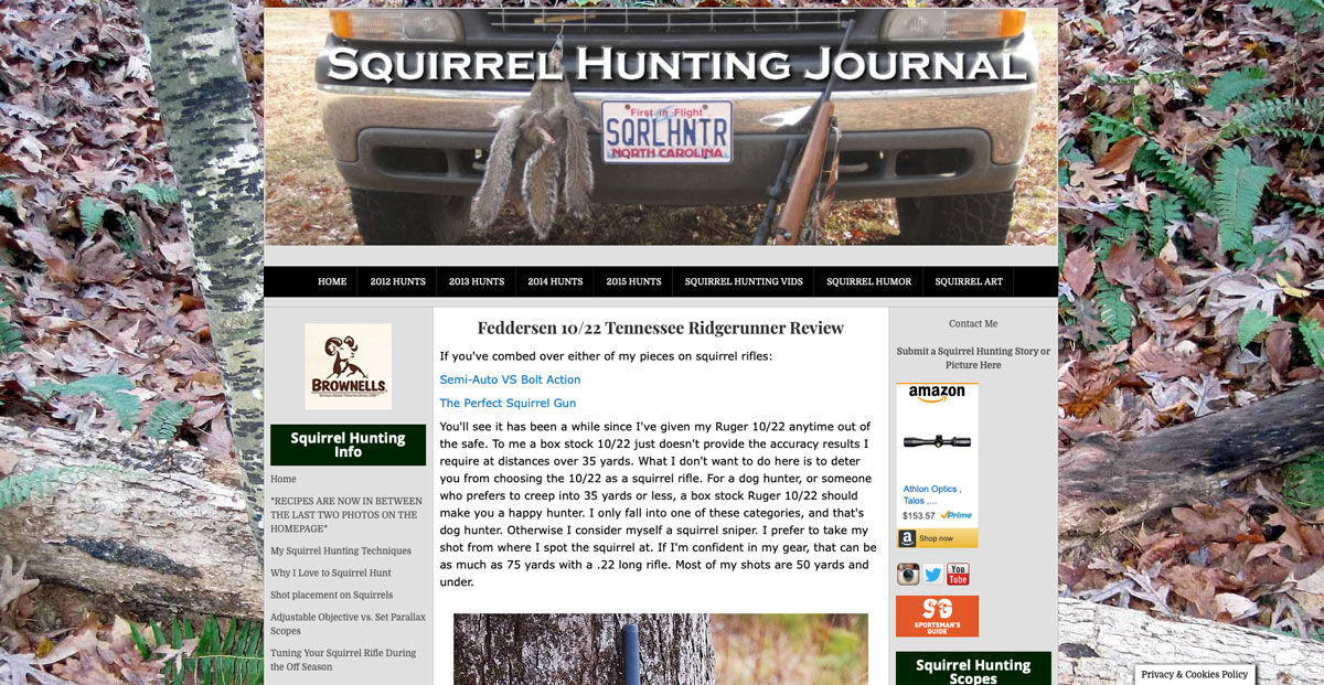Feddersen Rifle Barrel Review - Squirrel Hunting Journal
