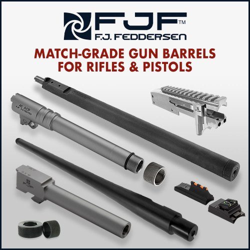 F.J. Feddersen Match-grade gun barrels for popular pistols, and 10/22™ rifles