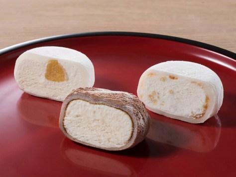 MOCHIMORE(みたらしとくるみ、ティラミス、甘酒とクリームチーズとゆず) - あいぱく/アイスクリーム万博HPより引用