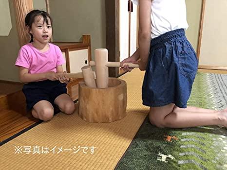 北海道天然木製 ミニもちつきセット+お子様用 ミニキネ【5合用】 Amazonから引用