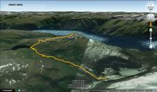 Our route up and down Hest