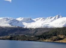 Eidkyrkja seen across Austefjorden