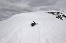 On the ridge - windpacked snow