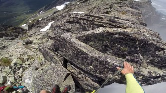 Scrambling on the ridge