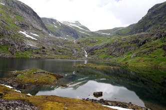 The lower of the Tussevatna lakes