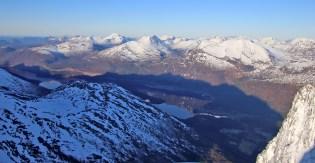 Little snow across Austefjorden