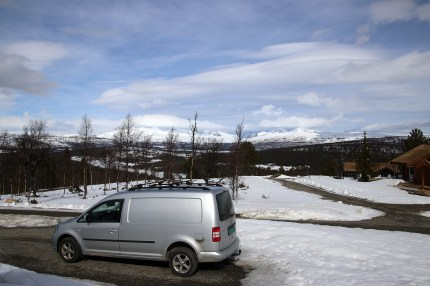 Back at the cabin. Nice Rondane view!