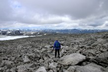 Descent on rock