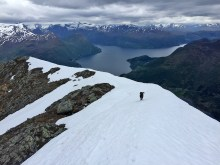 Entering the ridge