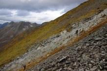 Slightly cumbersome terrain. Slippery.