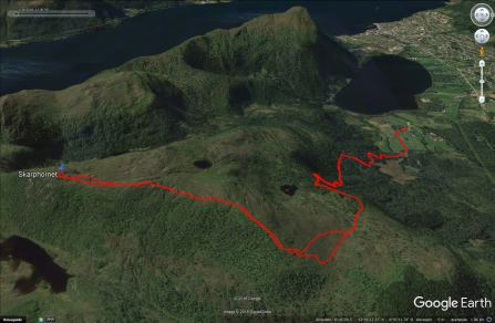 The route to Skarphornet