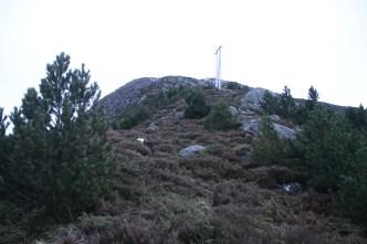 Up Leinehornet's west ridge