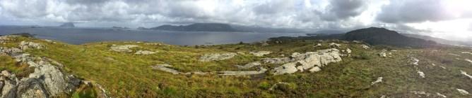 Panorama from Lammetufjellet (1/2)