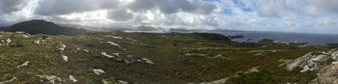 Panorama from Lammetufjellet (2/2)