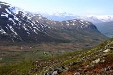 Looking down on Strynesætra