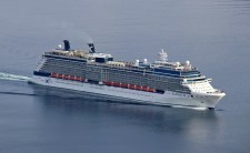 A passing cruise ship