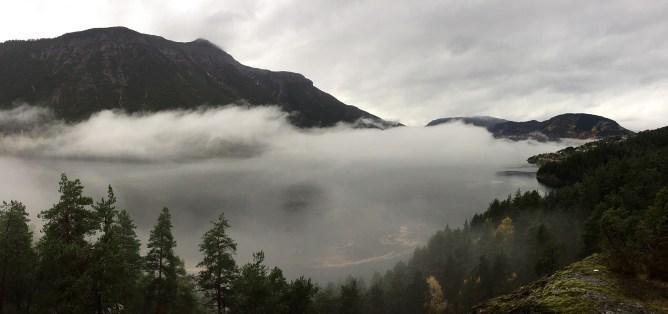 Fog above Eidsfjorden