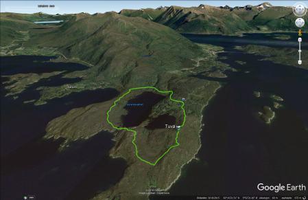The route across Tuva