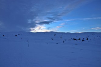 There is often different weather on either side of Utvikfjellet